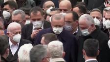Cumhurbaşkanı Erdoğan Hacı Ahmet Gür'ün cenaze namazına katıldı
