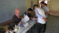 Iraklılar, erken genel seçim için sandık başında