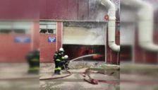 Kocaeli'de yağ fabrikasında korkutan yangın