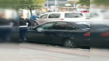Zonguldak'ta taksi şoförünün milli diskçiyi tehdit ettiği anlar