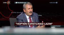 BBP Genel Başkanı Mustafa Destici: HDP'nin kapatılması lazım