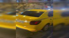 Beyoğlu'nda tespit edilen korsan taksi, 60 gün trafikten men edildi