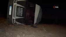 Şanlıurfa'da öğrenci sevis minibüsü devrildi