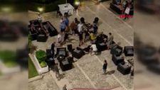 Antalya'da otelde Rus ve İngiliz turistlerin kavgası kamerada