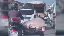 Diyarbakır'da taşınan ambalajsız et kamerada