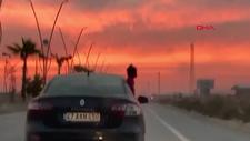 Şırnak'ta seyir halindeki aracın camından sarkan çocuk korkuttu