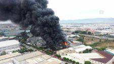 Bursa'da elyaf fabrikasında yangın çıktı