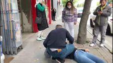 Eskişehir'de sokak ortasında kadına uygulanan şiddet