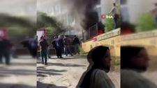 Tuzla'da okul servisi yandı