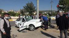 Adıyaman'da, 13 yaşındaki çocuk babasının otomobili ile kaza yaptı