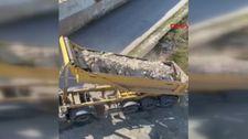 Arnavutköy'de hafriyat kamyonu, mahalle içinde kaçak döküm yaptı