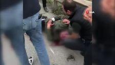 Bursa'da kaza geçiren motosikletliye ilk müdahaleyi vatandaşlar yaptı