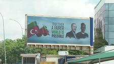 Nijerya'da Cumhurbaşkanı Erdoğan afişleri