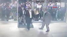 Ahmet Davutoğlu'nun asansör kazasının öncesi sonrası görüntüleri