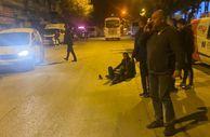 Ankara'da karşıdan karşıya geçtiği sırada otomobil çarptı