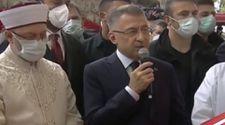 Fuat Oktay, Özdemir Bayraktar'ın cenaze namazında konuştu