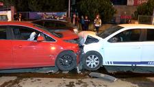 Pendik'te 4 kişinin yaralandığı kaza anı