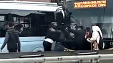 Ümraniye'de, İETT şoförü ile otomobil sürücüsü trafikte kavga etti