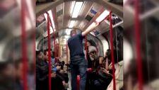 İngiltere'de metroda Asyalı kadına saldırmaya çalışan adama yolcular müdahale etti