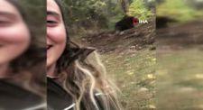 Artvin'de ayı ile selfie çekti