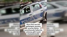 İzmir'de polis aracıyla video çeken şüpheliye gözaltı