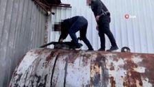 İstanbul'da, 73 bin 500 litre kaçak on numara yağ ele geçirildi
