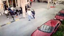 Müzikholdeki kavga sonrası 1'i polis 2 kişinin yaralandığı anlar