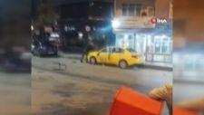 Sultangazi'de eski çalıştığı durağa ait aracı parçalayan taksici