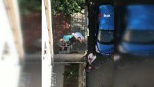 Maltepe'de komşuların 'mantolama' krizi: Çatıya çıkıp vinci engelledi