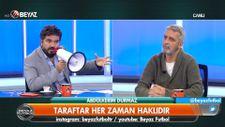 Rasim Ozan Kütahyalı canlı yayına megafonla çıktı