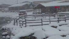 Rize'de kar kalınlığı 20 santimi geçti