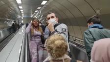 İstanbul'da yabancı uyruklu yolcu ve arkadaşı metrodan indirildi