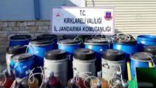 Kırklareli'nde 2 bin 560 litre kaçak içki yakalandı
