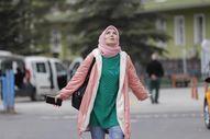 Ankara'da, koronayı yenen kadın sağlığına kavuştu