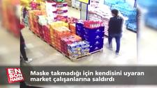 Avcılar'da maske tak diye uyaran market çalışanlarına saldırı