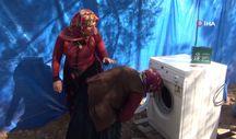 Mersin'de yörük kadınları çamaşır makinesine kavuştu