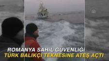 Romanya sahil güvenliği Türk balıkçı teknesine ateş açtı