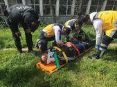 Kafaya darbe alan sürücü: Ambulans başka hastaya gitsin