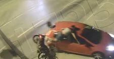 Burdur'da motosikletli sürücülerin kazaları şehir polis kamerasında
