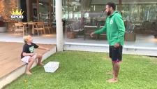 Neymar'dan oğluna yumurta şakası