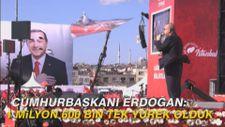 Cumhurbaşkanı Erdoğan: 1 milyon 600 bin tek yürek olduk