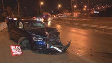 Büyükçekmece'de alkollü sürücü kaza yaptı