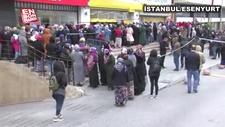 PTT önlerinde yardım parası kalabalığı