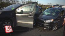 TEM otoyolunda zincirleme kaza: 4 yaralı