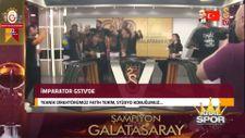 Fatih Terim'in GS TV röportajında futbolcular stüdyoyu bastı