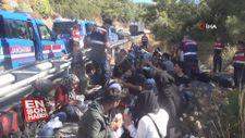 Muğla'da göçmenlerin olduğu minibüs kaza yaptı