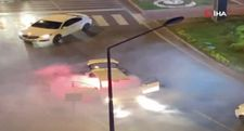 Galatasaray'ın şampiyonluk kutlamalarında meşale kazası