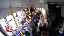 Trabzon'da fenalaşan yolcuya otobüs şoförü müdahale etti