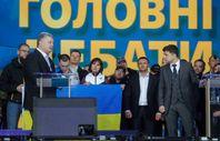Poroşenko ve Zelenskiy 70 bin kişilik stadyumda tartıştı