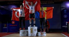 Genç halterci Nuray Levent Avrupa ikincisi oldu